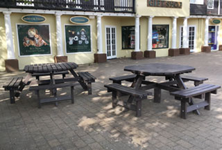 picnic tables for World of Adventures